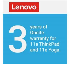 Lenovo Onsite Hardware Repair Warranty for 11e ThinkPad and 11e Yoga - 3 Years (Upgrade from 1 Year Depot)
