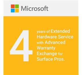 Microsoft Commercial Extended Hardware Service with Advanced Exchange  Warranty for Surface Pros - 4 Years