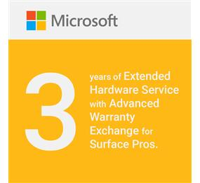 Microsoft Extended Hardware Service with Advanced Warranty Exchange for Surface Pros - 3 Years