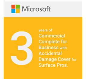 Microsoft Commercial Complete for Business Warranty and Accidental Damage Cover for Surface Pro - 3 Years