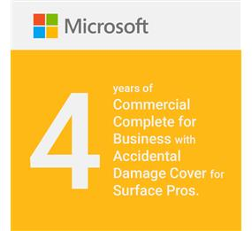 Microsoft Commercial Complete for Business Warranty and Accidental Damage Cover for Surface Pro - 4 Years